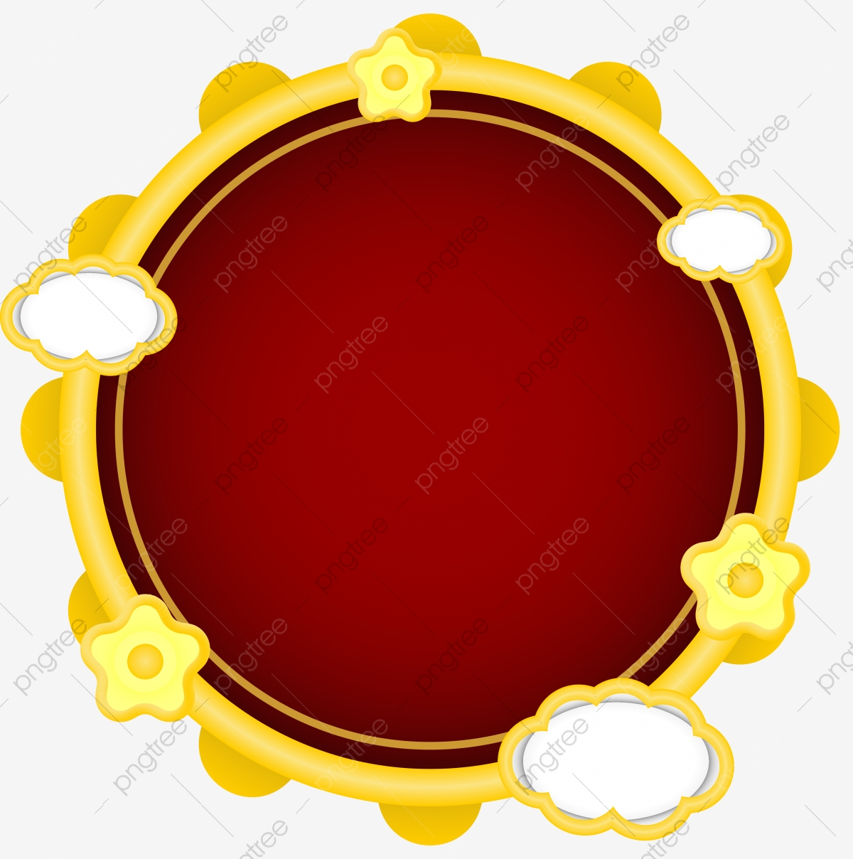 Red Gold Golden Border Round Mirror Transparent Png Color Free Transparent Png And Vector With Transparent Background For Free Download