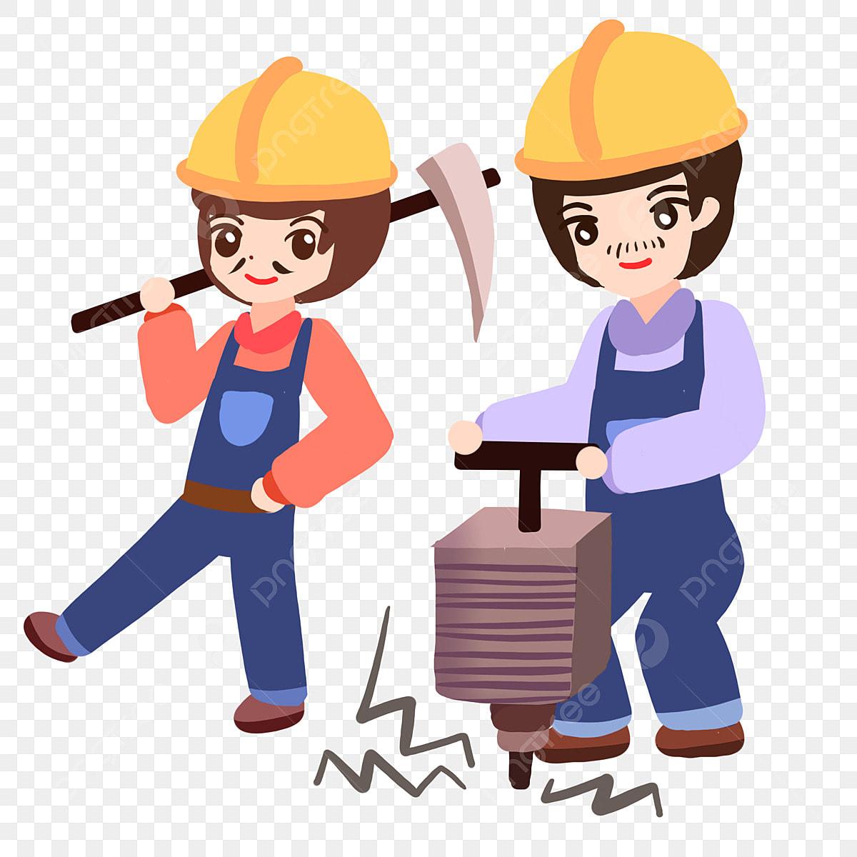 Gambar Kerja Pekerja Gembira Pekerja Petani Kerja Kartun Tempat Png Dan Psd Untuk Muat Turun Percuma