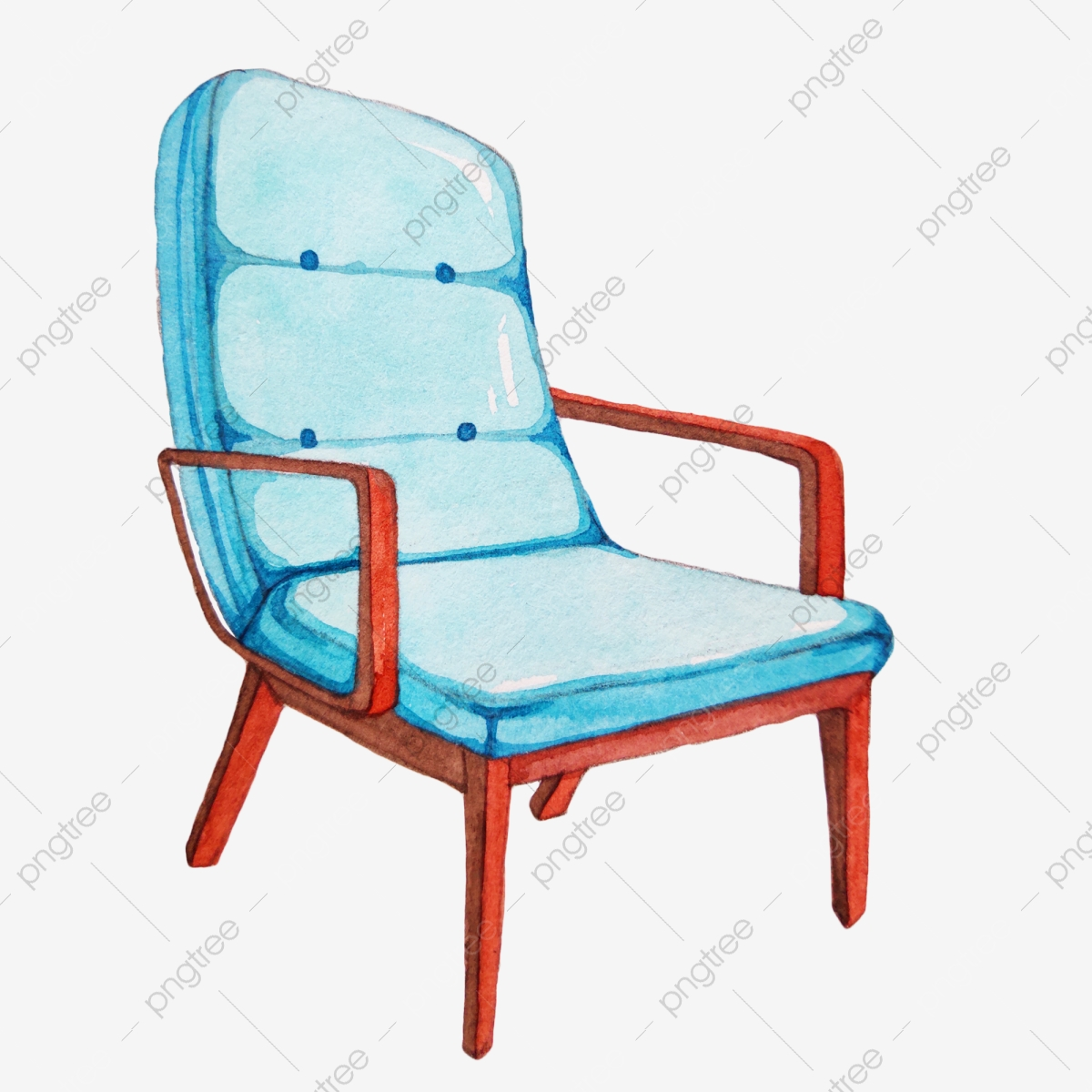 Single Blue Sofa Chair Chair Furniture Sofa Png