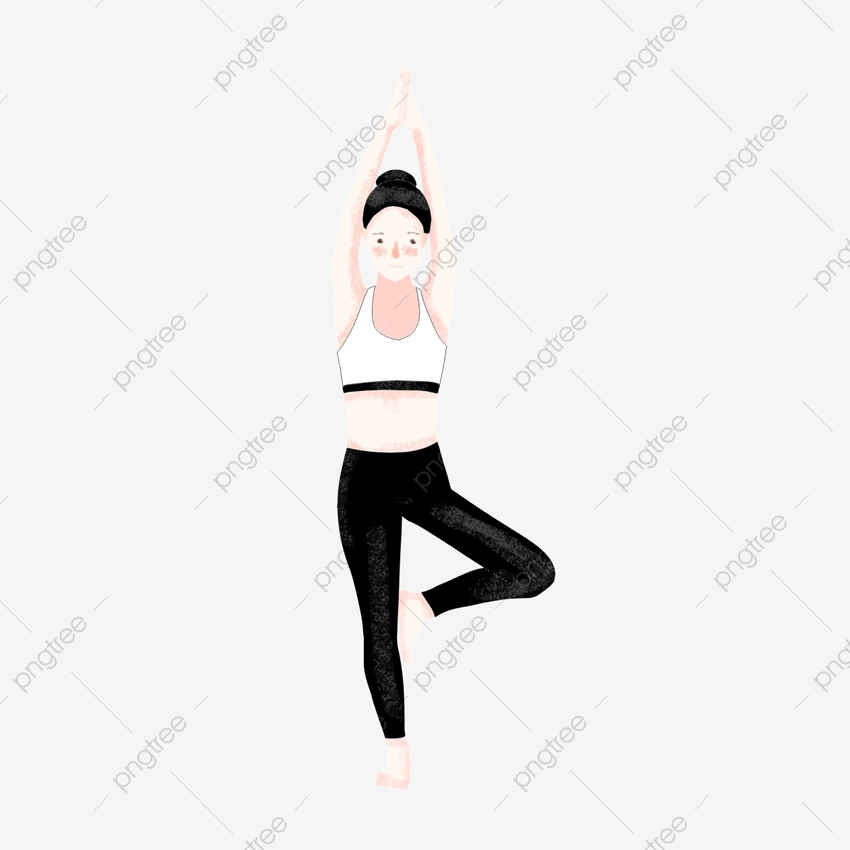 Sport Fitness Stretching Yoga Exercise Flat Wind Hand Drawn Cartoon Girl Woman Sport Fitness Stretch Png Transparent Clipart Image And Psd File For Free Download