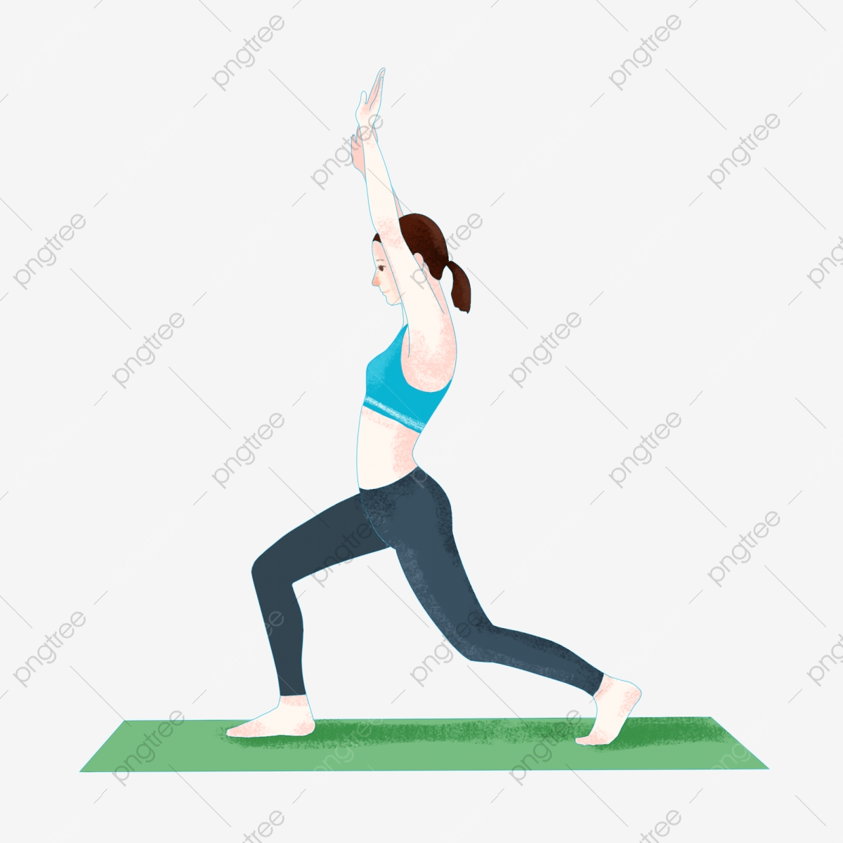 Sport Fitness Workout Body Stretching Flat Wind Vector Hand Drawn Cartoon Character Sport Fitness Exercise Png Transparent Clipart Image And Psd File For Free Download