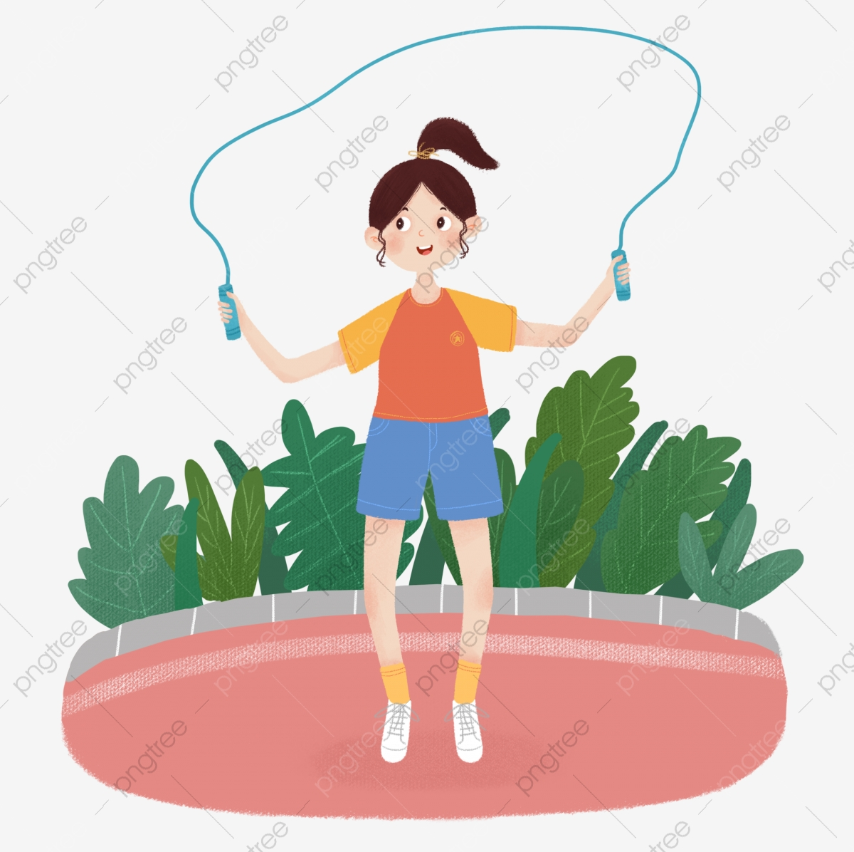 Sport Girl Jumping Rope Exercise Illustration Sport Fitness Figure Illustration Girl Jumping Rope Exercise Exercise Fitness Png Transparent Clipart Image And Psd File For Free Download