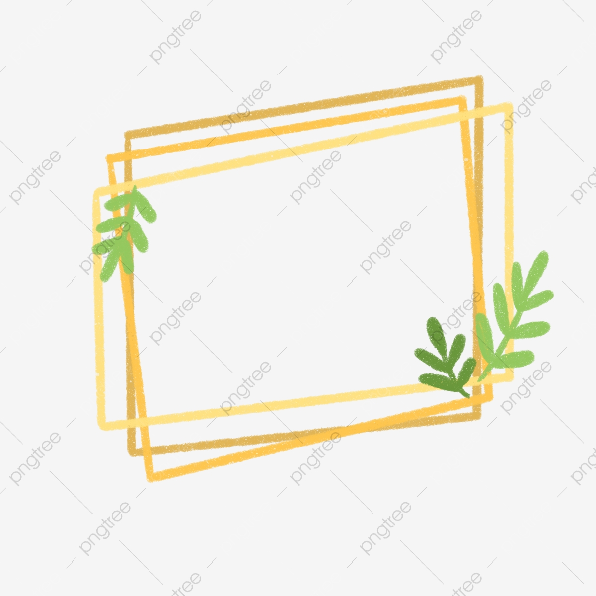 Square Leaf Hand Painted Aesthetic Square Leaf Hand Painted Png Transparent Clipart Image And Psd File For Free Download