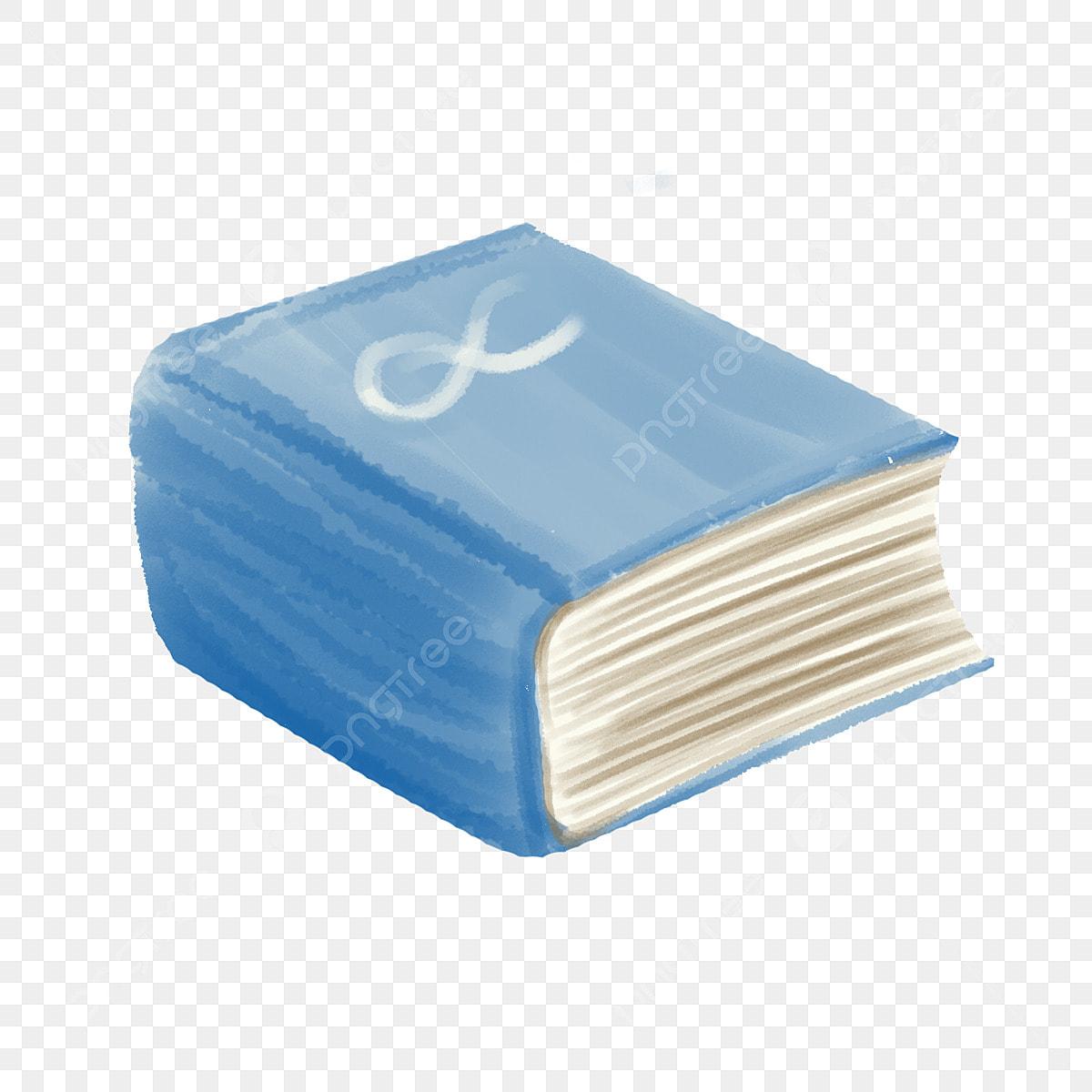 Stereo Livre Bleu Illustration Livre Epais Bleu Education