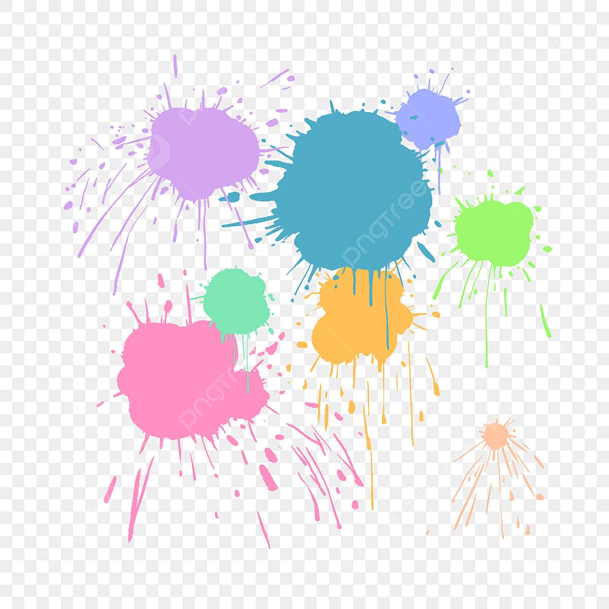 رش البقع الطلاء الملونة نقاط من النقاط لون الحبر امتد الطلاء صب نقطة الديكور المد والجزر أصباغ اللون البقع