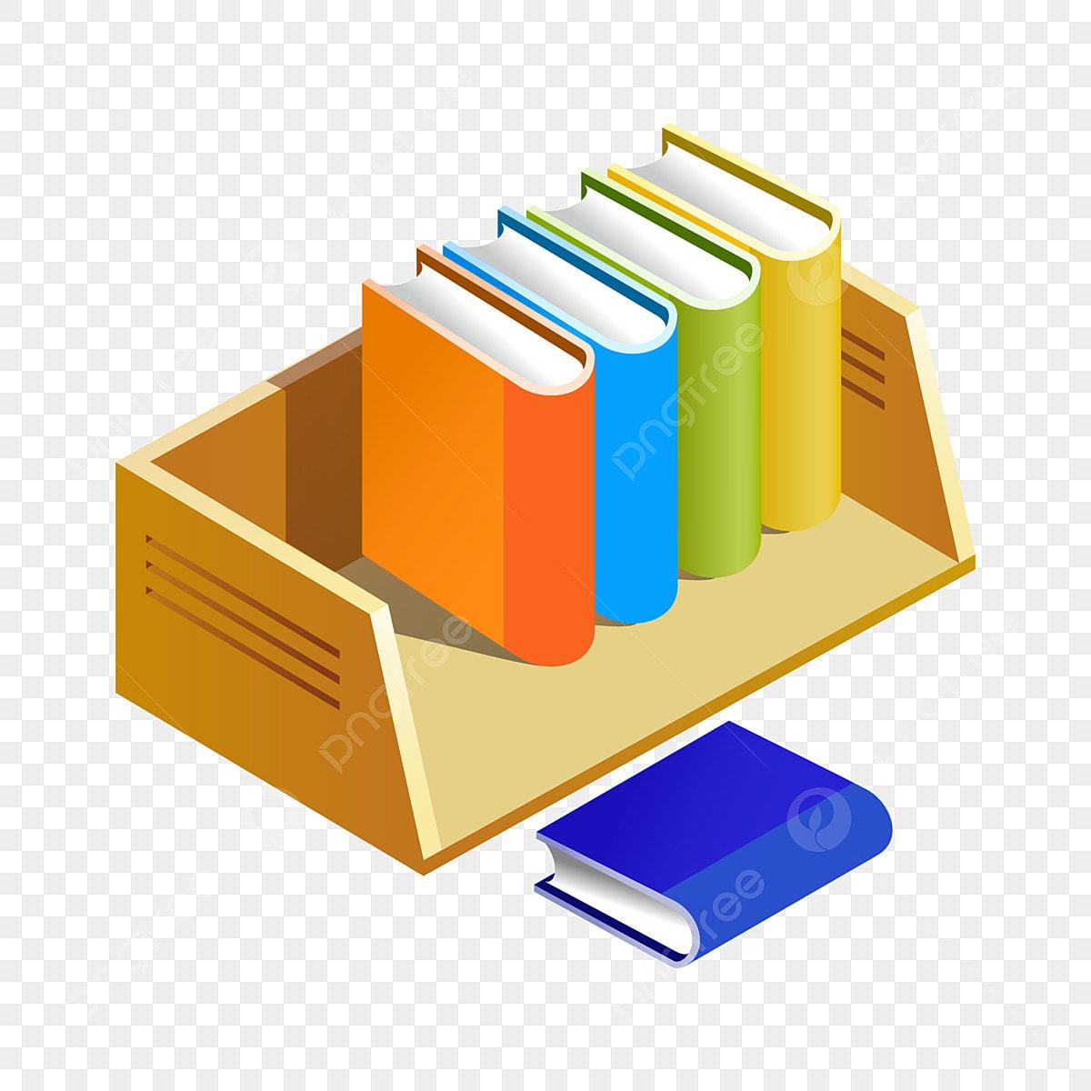 Yellow Desktop Bookshelf Illustration Yellow Bookshelf