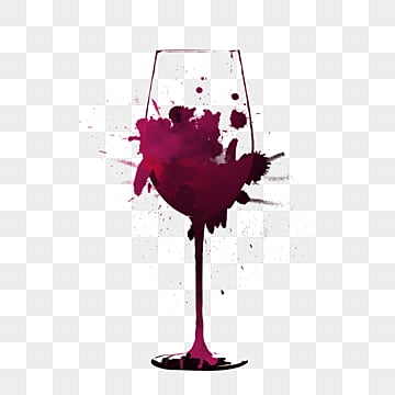 creative liquid smudge red wine glass, Gradient, Hand Painted, Hook Pattern PNG and PSD