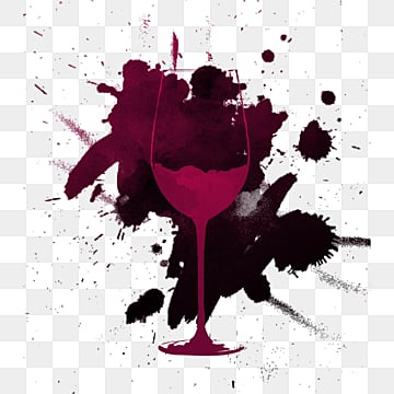 smudged background creative red wine glass, Ink, Hook Pattern, Splash Effect PNG and PSD