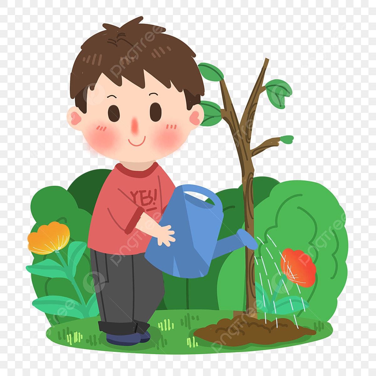 Hình ảnh Arbor Day Phim Hoạt Hình Cậu Bé Tưới Nước Png Vật Liệu, Lễ Hội Cây,  Hoạt Hình, Phim Hoạt Hình Chàng Trai miễn phí tải tập tin PNG PSDComment và