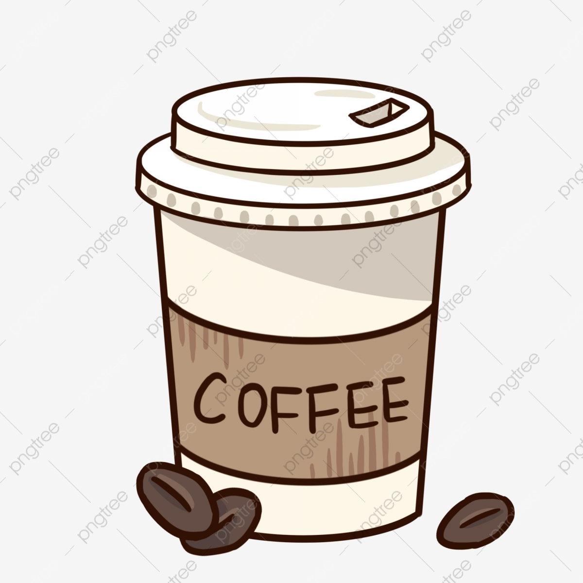 Beautiful Coffee Cup Illustration Coffee Mug Clipart Beautiful Coffee Cup Black Coffee Beans Png Transparent Clipart Image And Psd File For Free Download