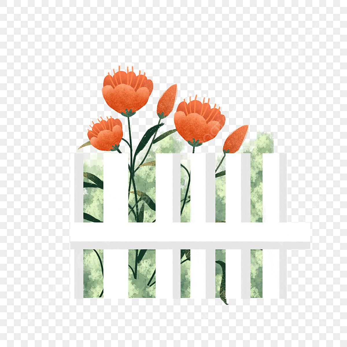 Flower Garden Gardening Clip Art - Bird - Picket Fence Clipart Transparent  PNG