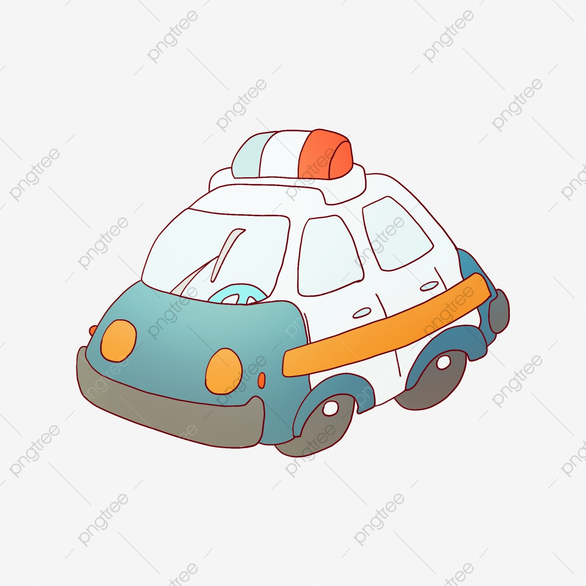 Blue Police Car Cartoon Illustration Blue Police Car Police Car On Duty Police Png Transparent Clipart Image And Psd File For Free Download