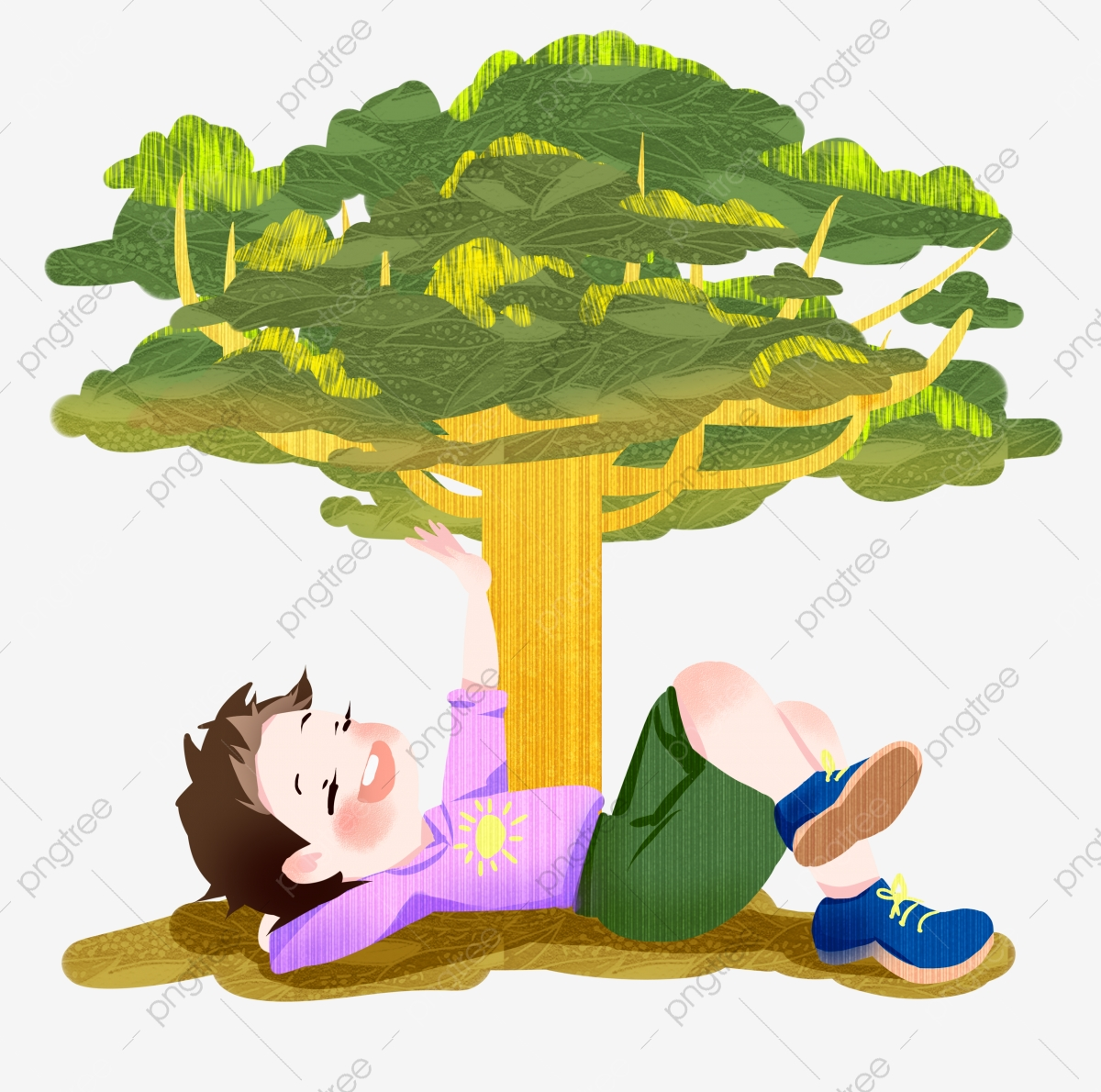 Boy Sleeping Under The Tree Arbor Day Character Illustration Green Trees Plant Decoration Png Transparent Clipart Image And Psd File For Free Download Fruit tree cartoon 8 of 26. https pngtree com freepng boy sleeping under the tree 4578841 html