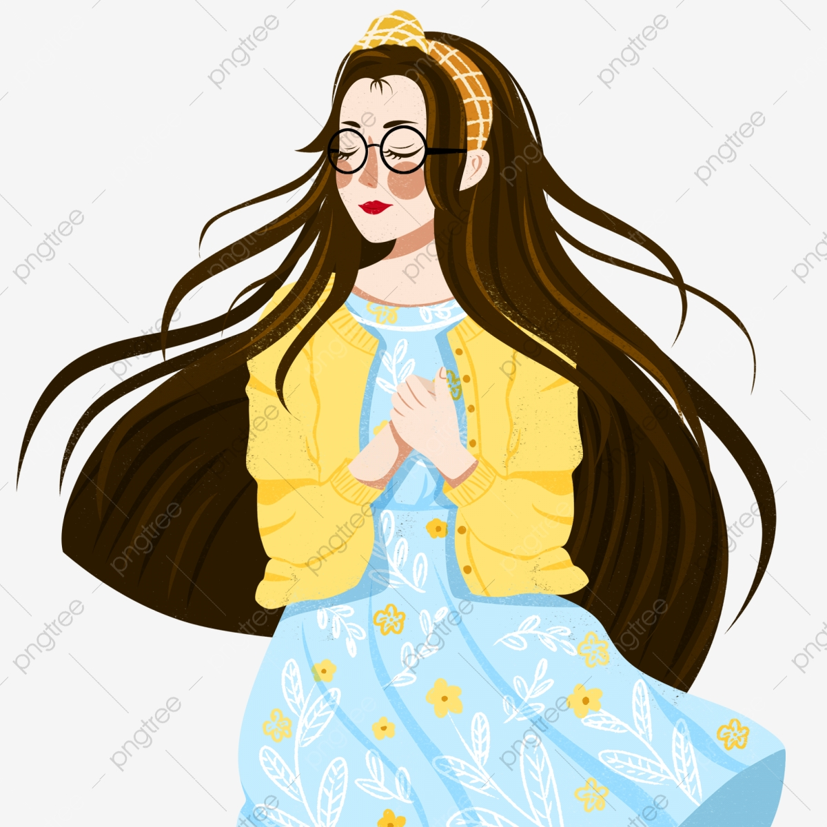 The Girls Wear Glasses Png Images Vector And Psd Files Free Download On Pngtree