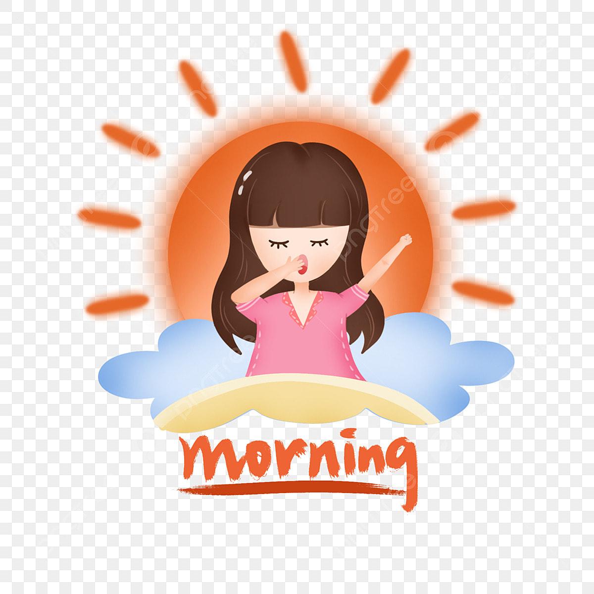 Pagi Matahari Yang Indah Awan Karakter Kartun Awan Kartun