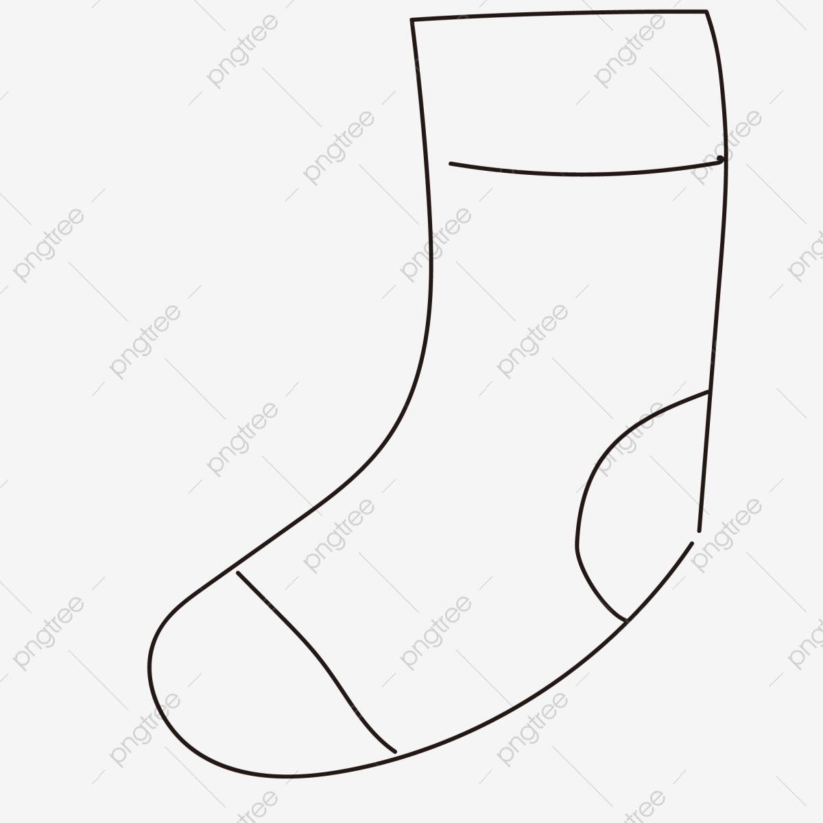 Cartoon Hand Painted Socks Free Illustration Socks Strips