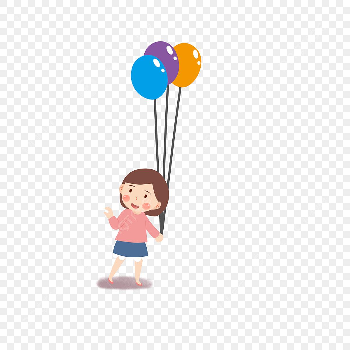 كارتون طفل يحمل بالون يوم الطفل كرتون اطفال أطفال سعداء Png وملف Psd للتحميل مجانا