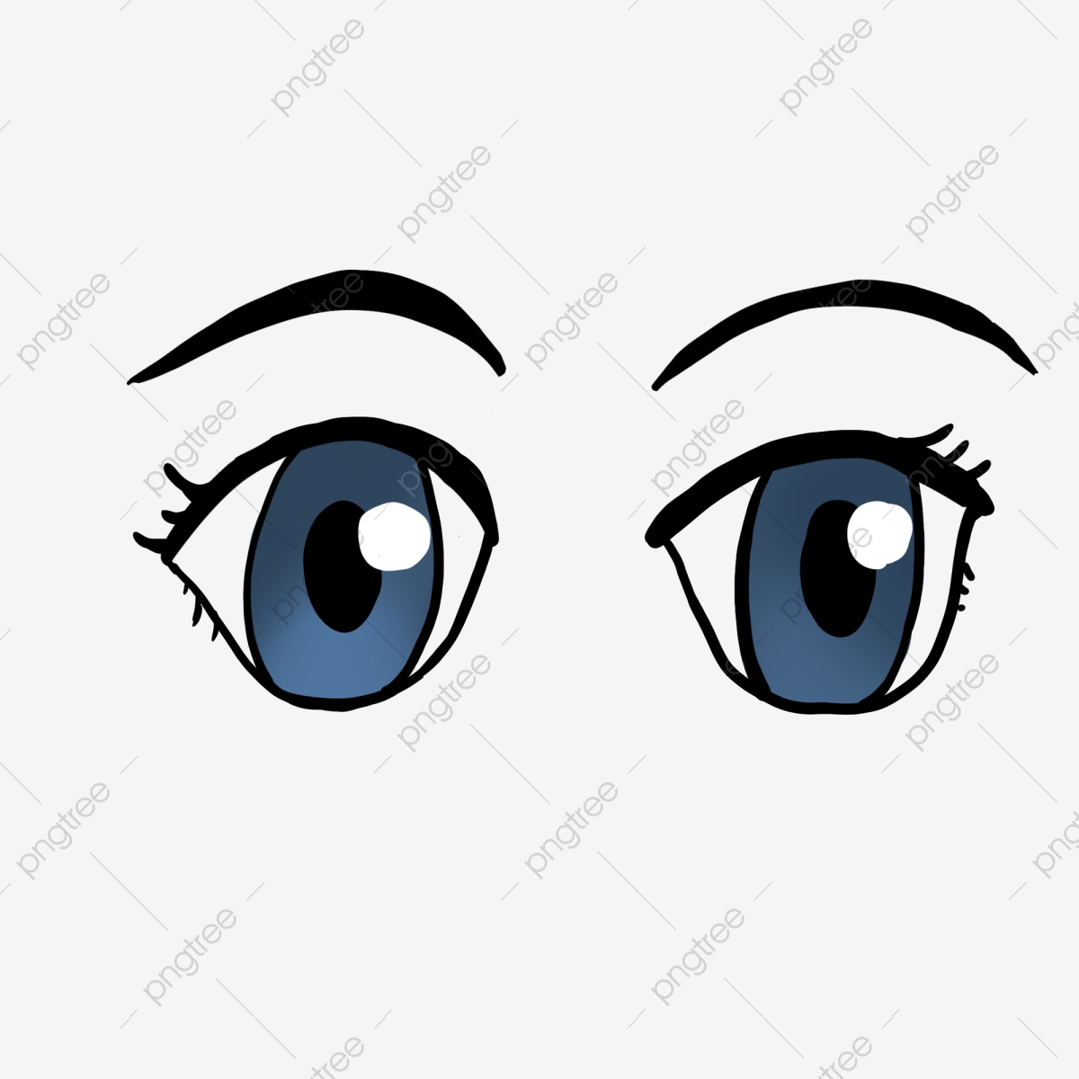 Olhos Azuis Brilhantes De Desenhos Animados Cinco Sentidos Olhos Olhos De Desenho Animado Imagem Png E Psd Para Download Gratuito