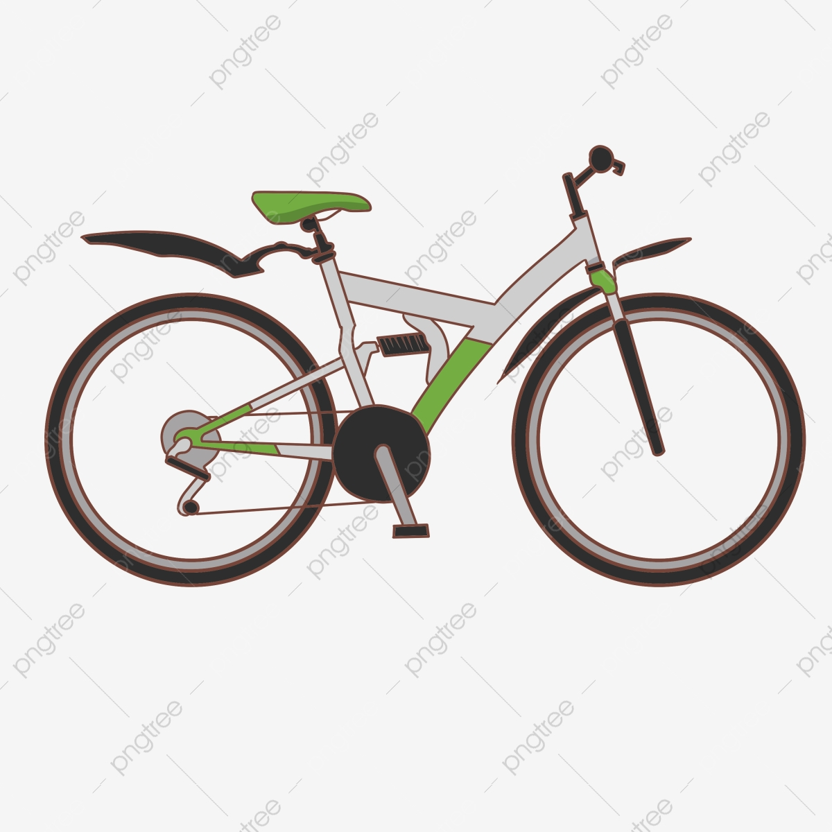 Cartoon White Bicycle Illustration Road Race Transportation Daily Necessities Png Transparent Clipart Image And Psd File For Free Download
