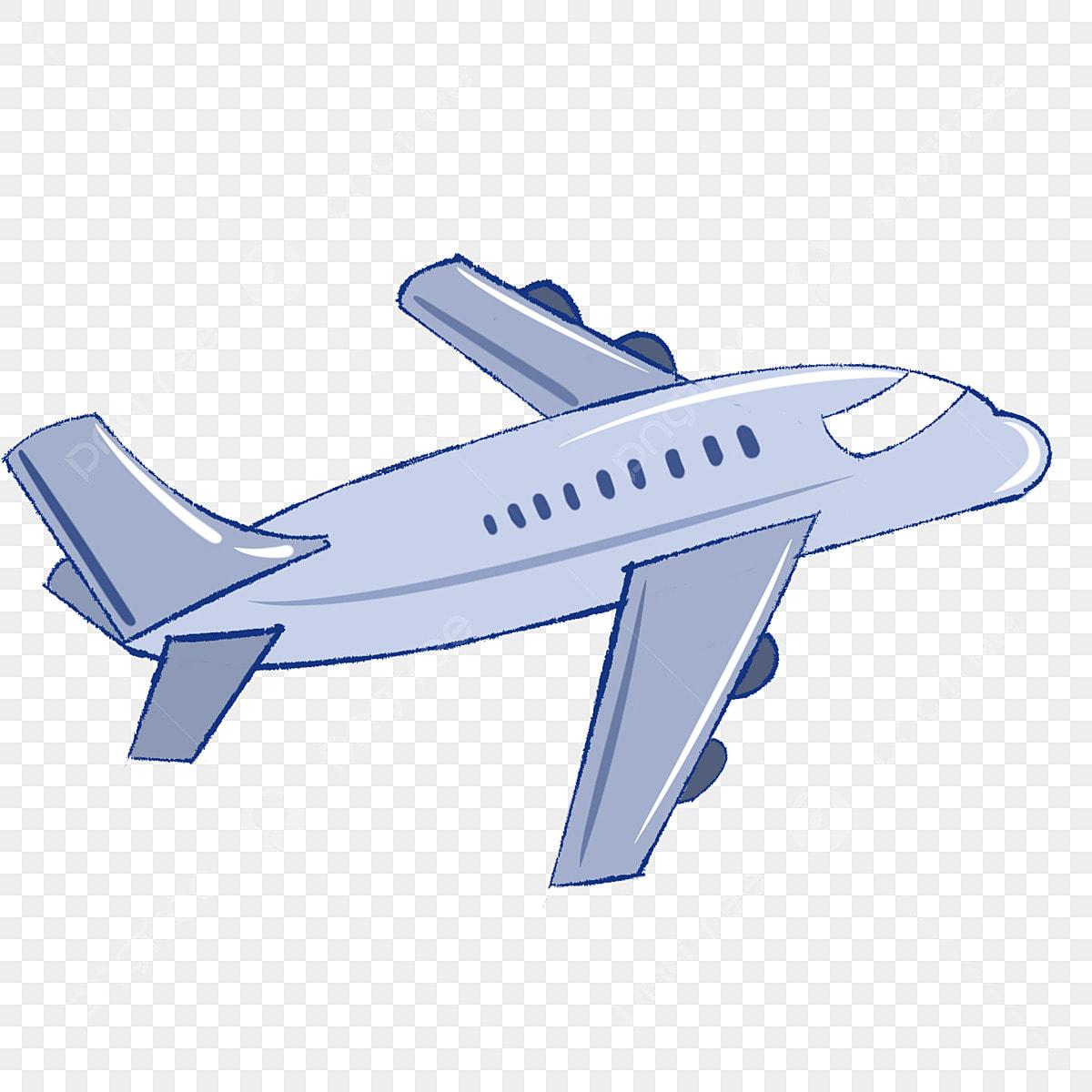 Cartoon Yellow Airplane Illustration Flying Airplane Cartoon