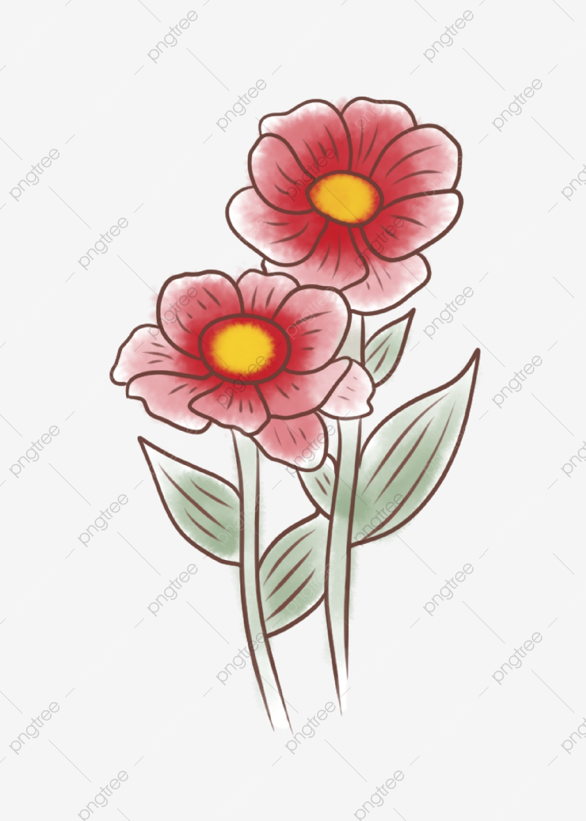 Two Flower Clip Art