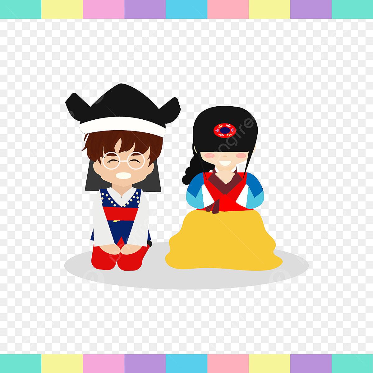 Gambar Cute Anak Laki Laki Dan Perempuan Beberapa Di Korea Pakaian Asia Asia Musim Luruh Png Dan Psd Untuk Muat Turun Percuma