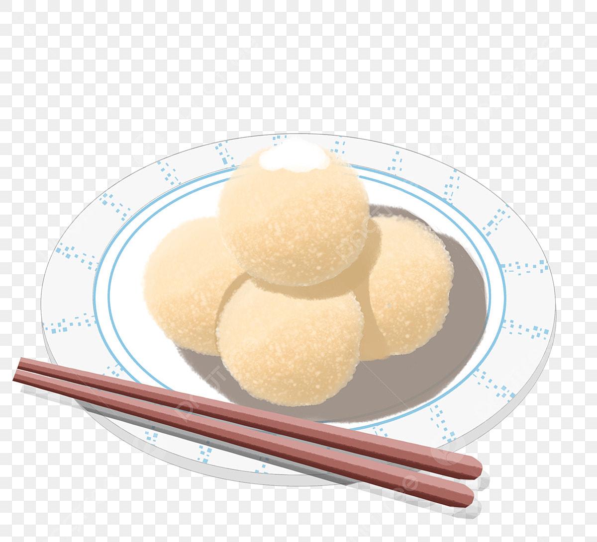 Ladu Goreng Ilustrasi Makanan Kartun Bola Nasi Makanan Ringan