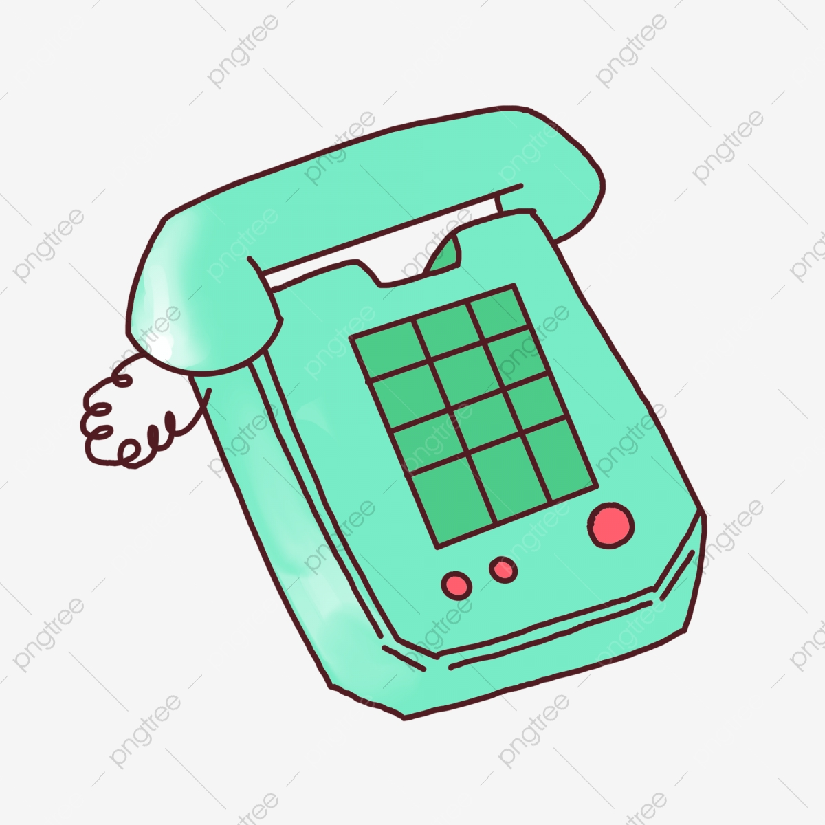 green telephone home landline red button png transparent clipart image and psd file for free download pngtree