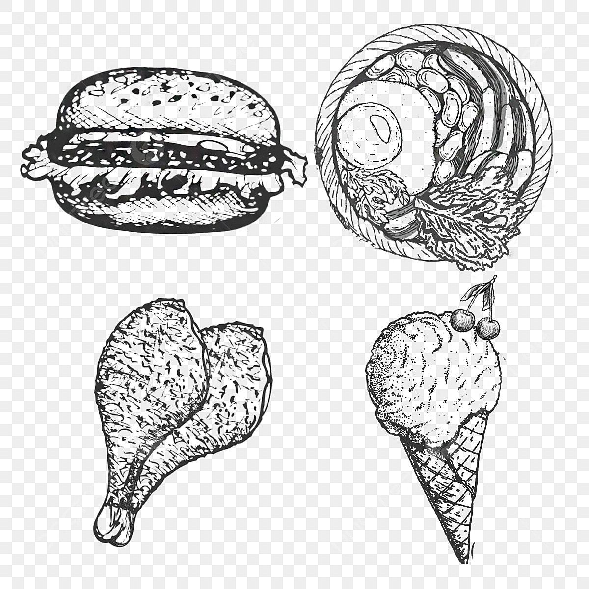 Hamburger Ice Cream Roast Chicken Western Food Fast Food