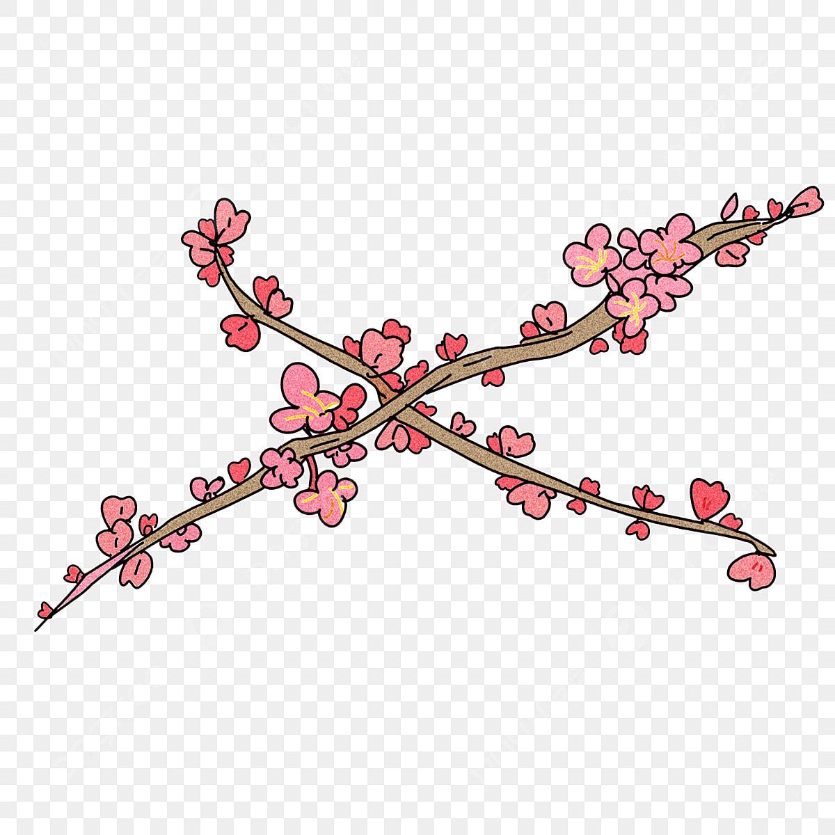 Ciliegio Fiori Bianchi O Rosa.Fiori Dipinti A Mano Primavera Fiori Di Pesco Rosa Moda Semplici
