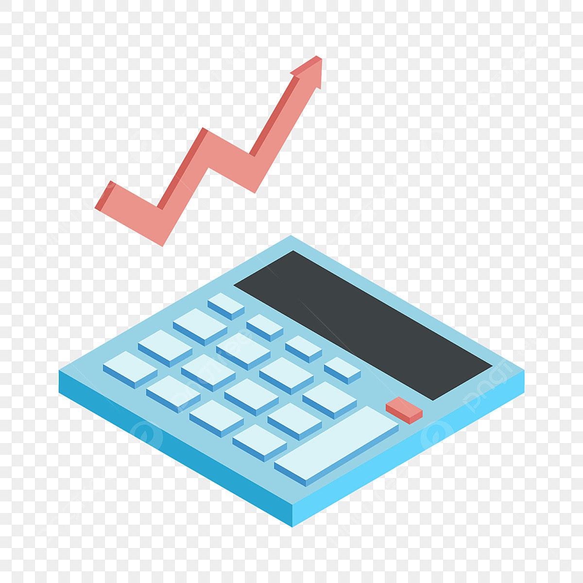 Calculatrice Bleue Illustration Financière Illustration De