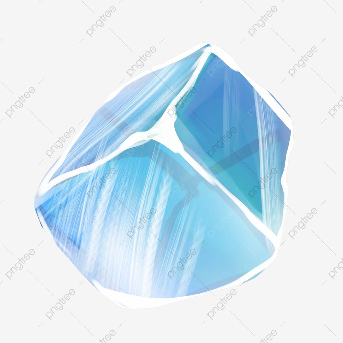 Ilustracao De Desenhos Animados De Cubo De Gelo Azul Claro Cubos