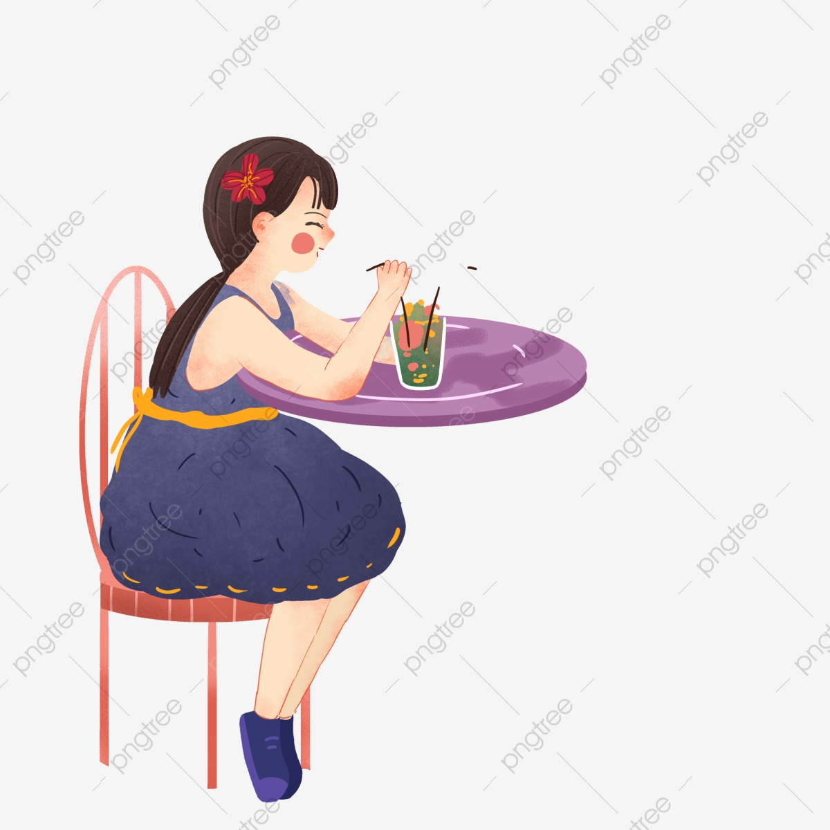 Magnificent Little Girl Is Drinking A Drink Free Illustration Purple Forskolin Free Trial Chair Design Images Forskolin Free Trialorg