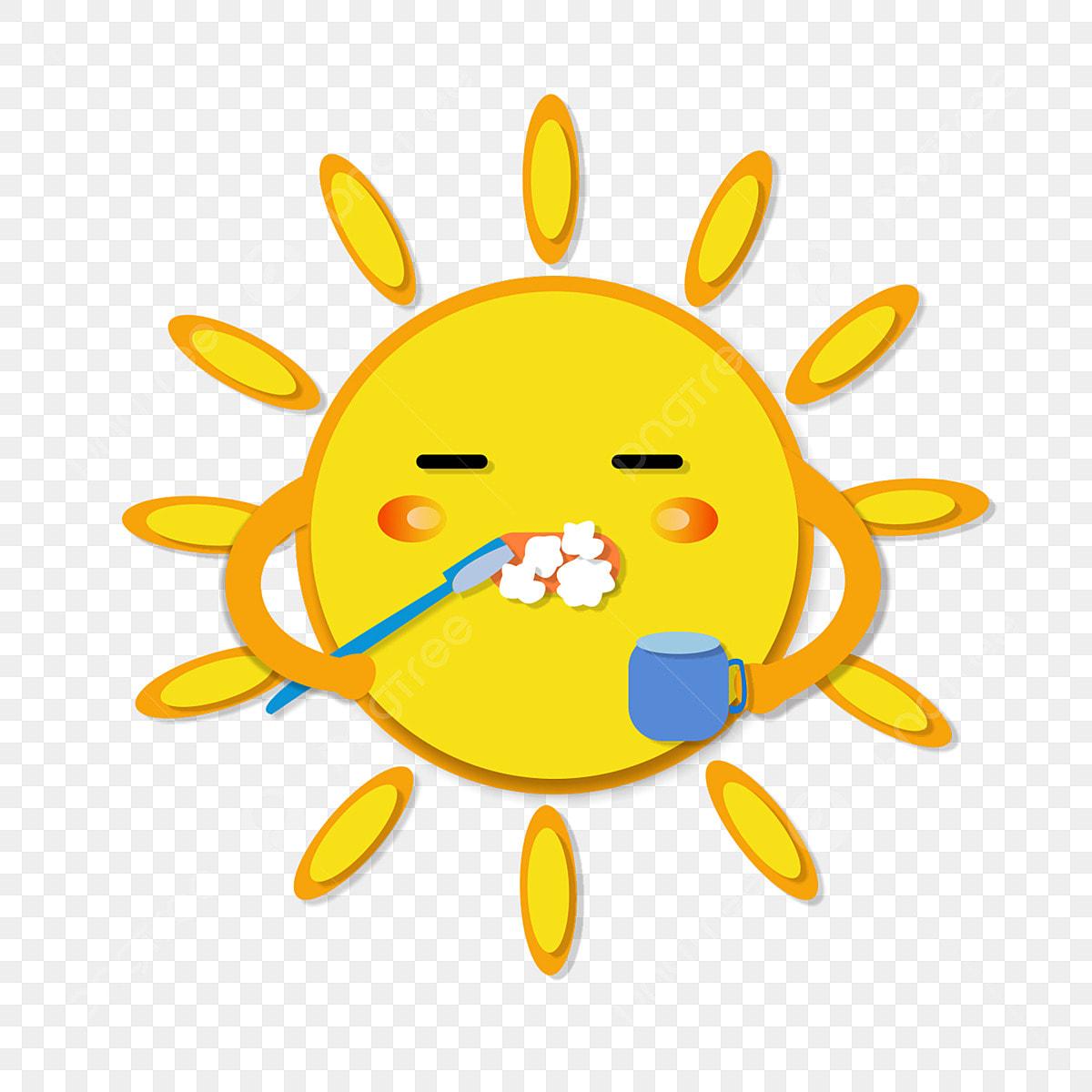 Kartun Matahari Awal Pagi El Memberuskan Pek Ekspresi