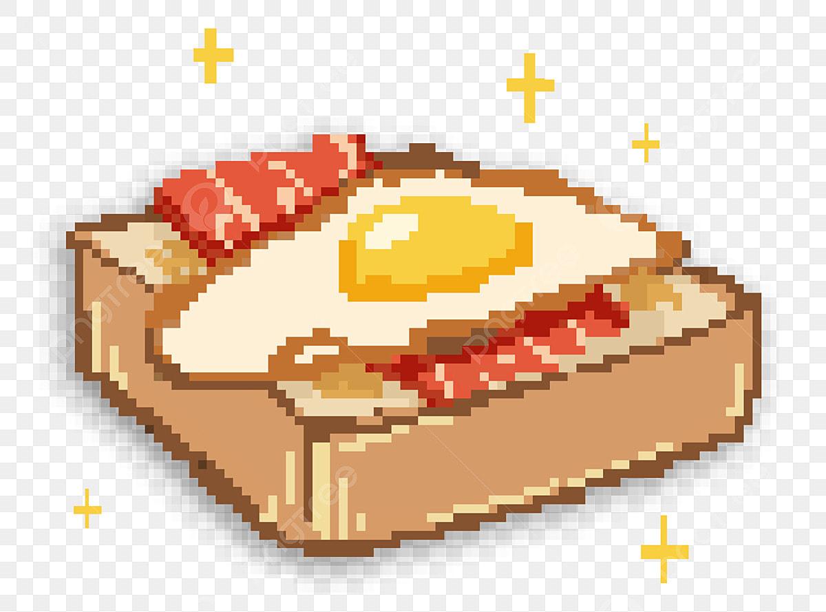 Omelette Pixel Painting Pixel Gourmet Painting Illustration Oeuf Omelette Illustration Nourriture Fichier Png Et Psd Pour Le Telechargement Libre