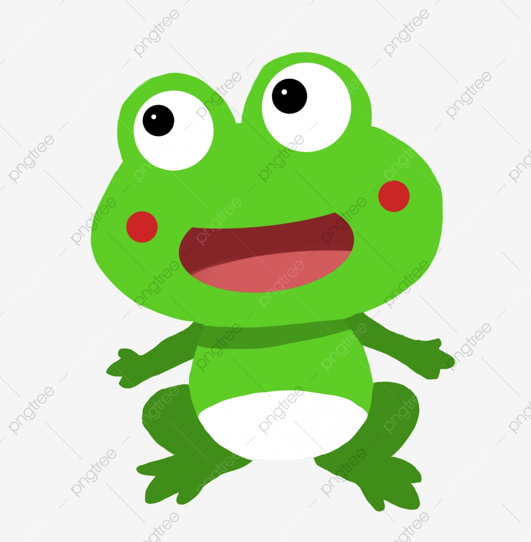カエルアクション 動物 グリーン 手でカエルイラストを開く 動物