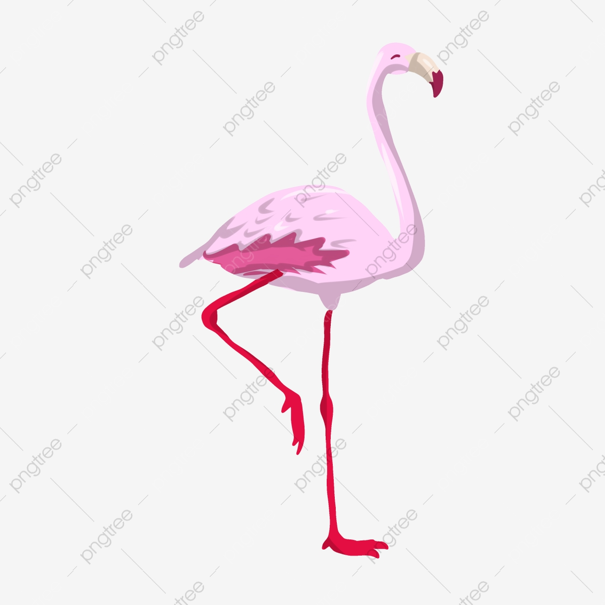 Pink Purple Flamingo Illustration, Pink Purple, Flamingo, Animal PNG  Transparent Clipart Image and PSD File for Free Download