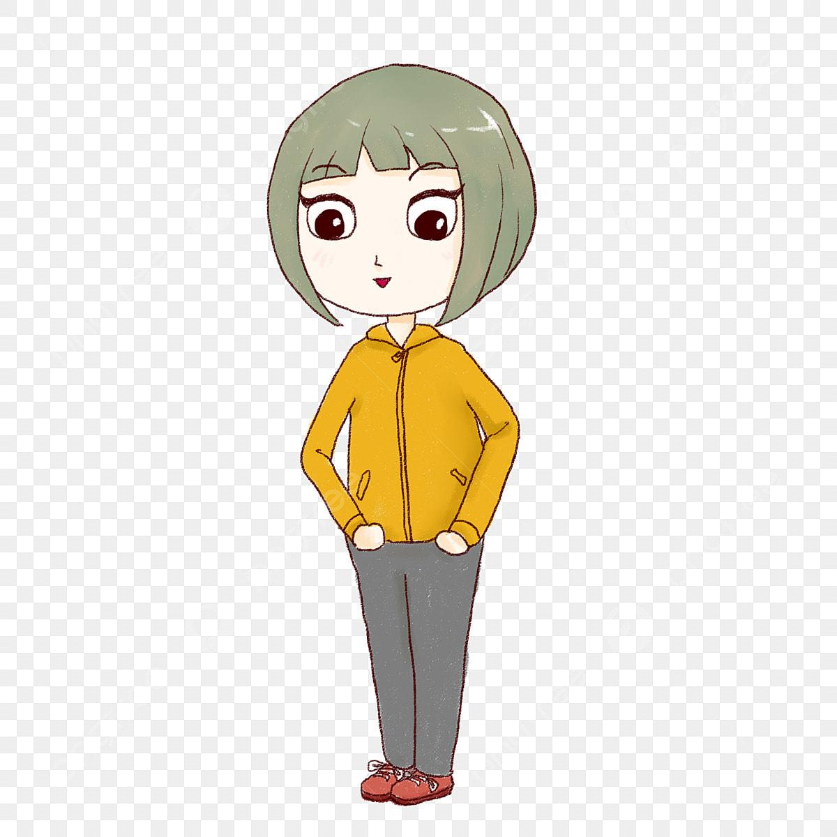 Short Hair Girl Cartoon Villain Girl Short Hair Villain Png