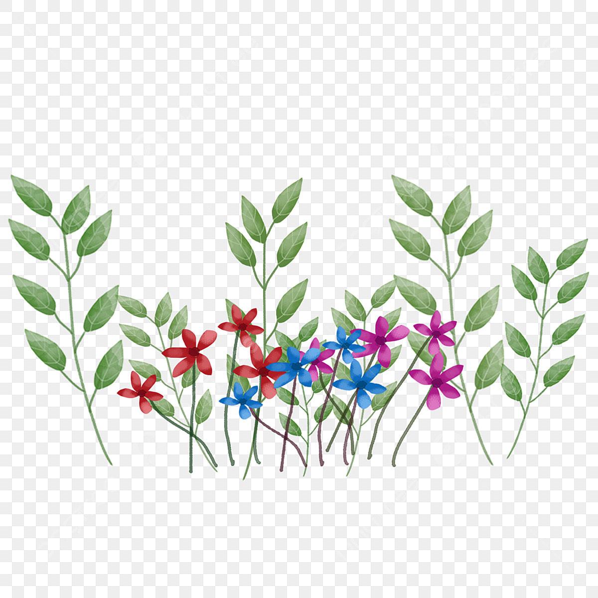 Peint à La Main Coloré Fleur De Printemps Dessin Animé