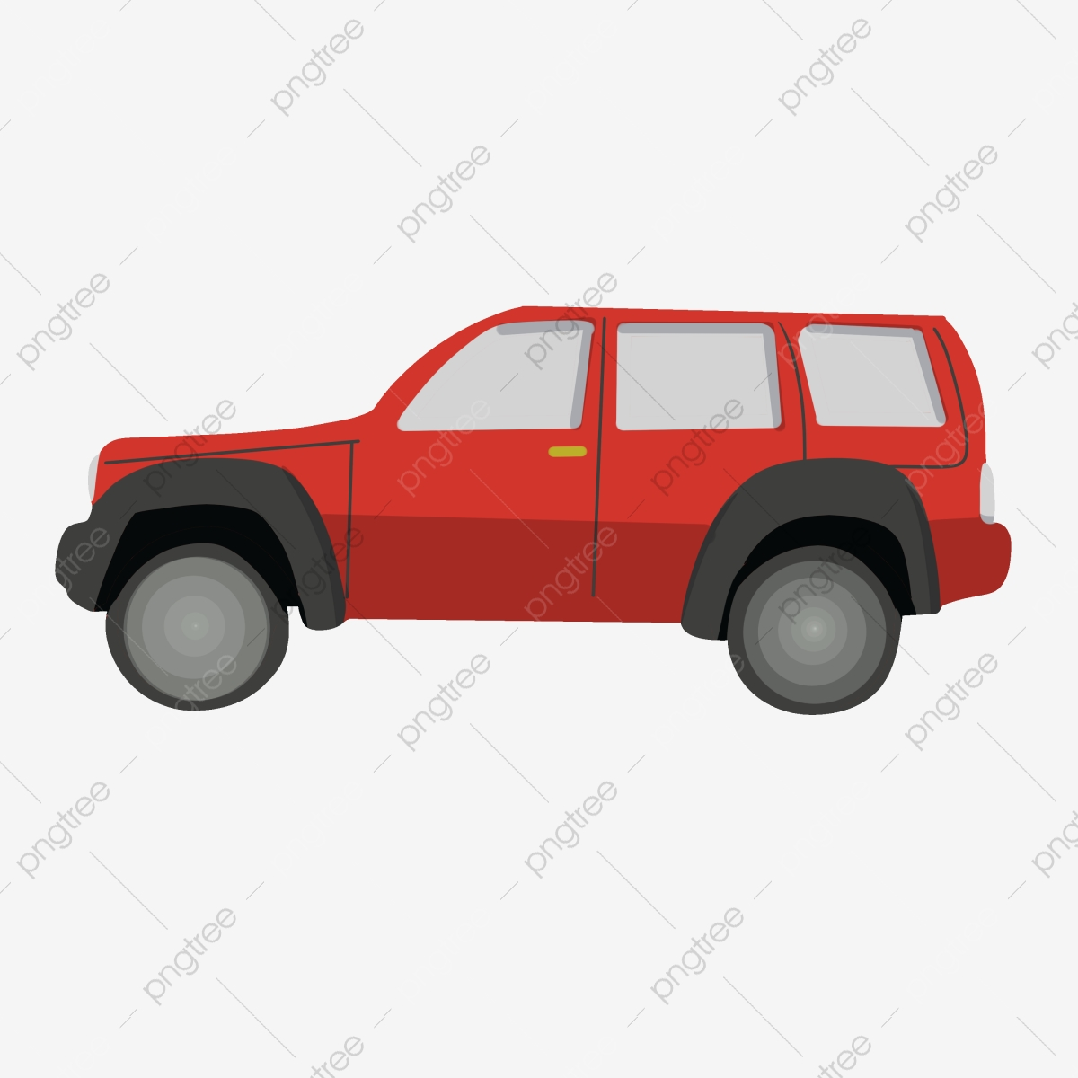 Vehicle Red Car Red Car Cartoon Illustration Car Illustration Png Transparent Clipart Image And Psd File For Free Download