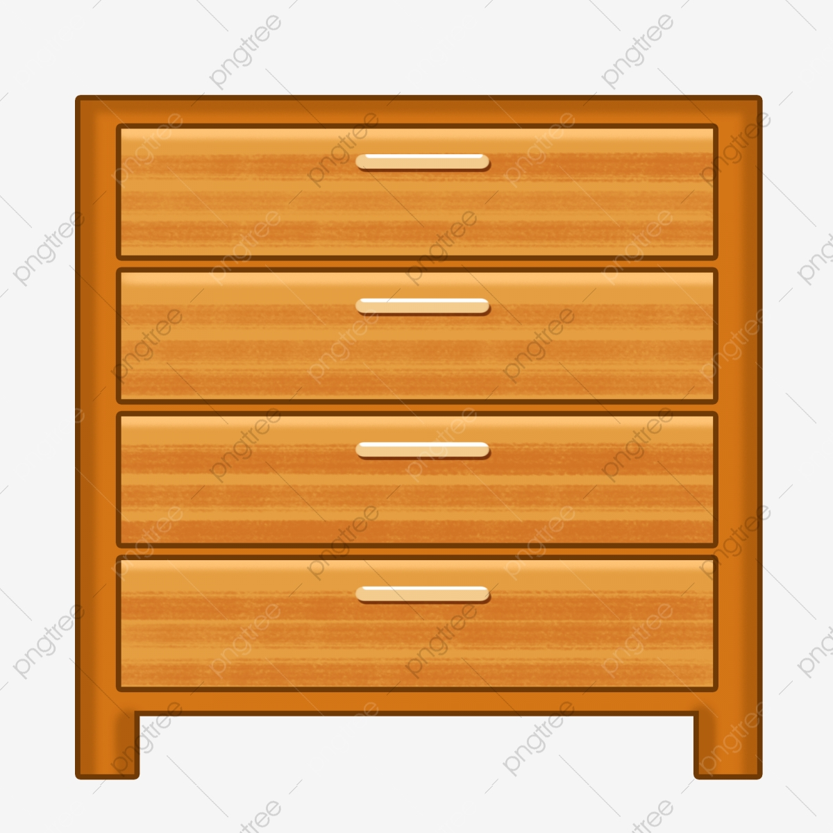 Wooden Cabinet Cartoon Illustration Cabinet Four Drawers Wooden Cabinet Png Transparent Clipart Image And Psd File For Free Download