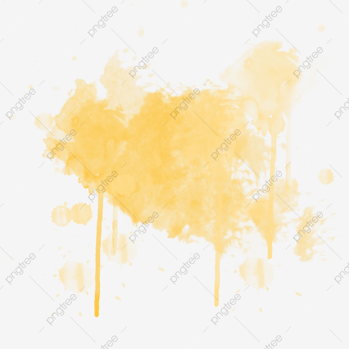 Yellow Smudge Ink Illustration Yellow Ink Smudge Png Transparent Clipart Image And Psd File For Free Download
