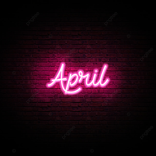 Neon Glow April Month Text Effect Art Font For Free Download