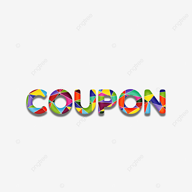 Colorida Cupom Fonte Geométrico Colagem Frase Efeito De