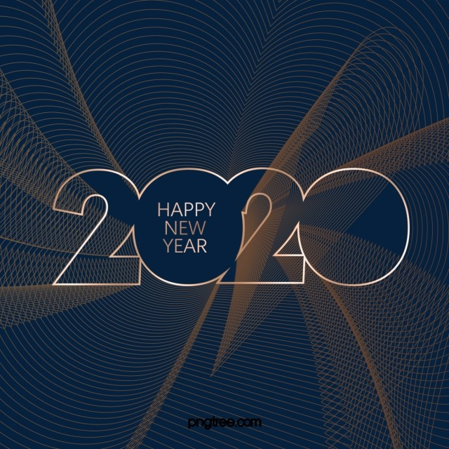 Curve Creative 2020 Art Word Design, 2020, Happy New Year ...