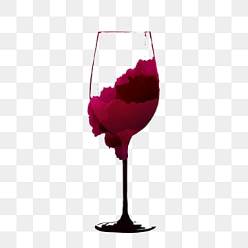 ink smudged red wine glass, Hook Pattern, Goblet, Ink PNG and PSD