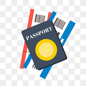 flat cartoon passport travel ticket, Plane, Cartoon, Passport PNG and PSD