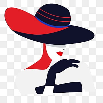 red black retro fashion style female elements wearing black gloves, Female Avatar, Independent Woman, Young Women PNG and PSD