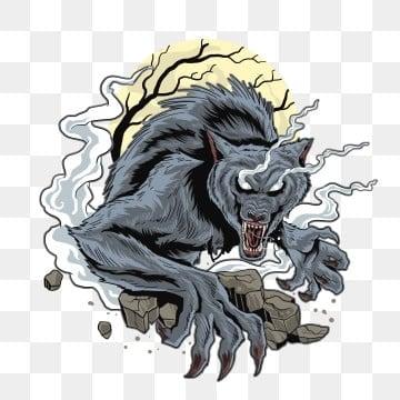 товар волк темная ночь, животное, Изобразительное искусство, осень PNG и PSD