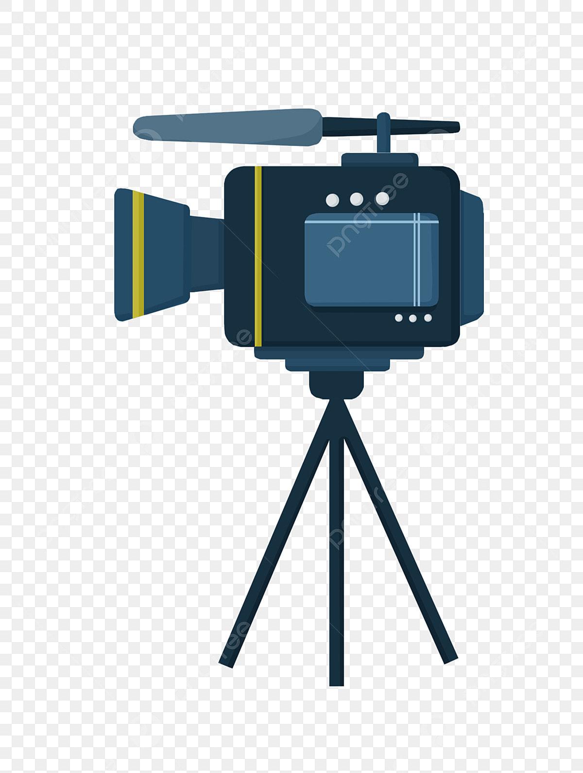 Camera Bleu Fonce Camera Pour Plateau Diffusion En Direct Camera